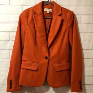 MICHAEL Michael Kors Orange Wool Blend Blazer